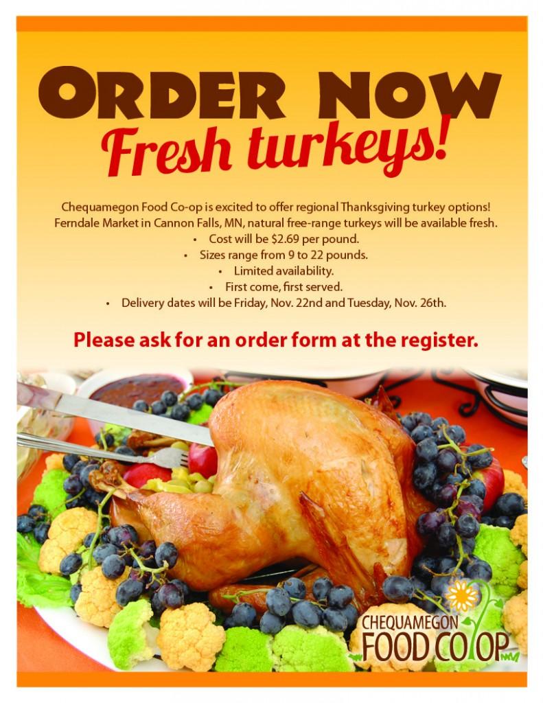 turkey preorder 2013