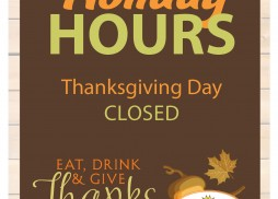 thanksgiving hours sign 2014